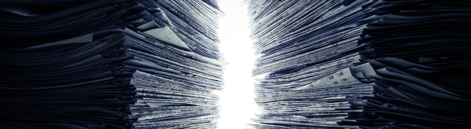 Ein Stapel Papier