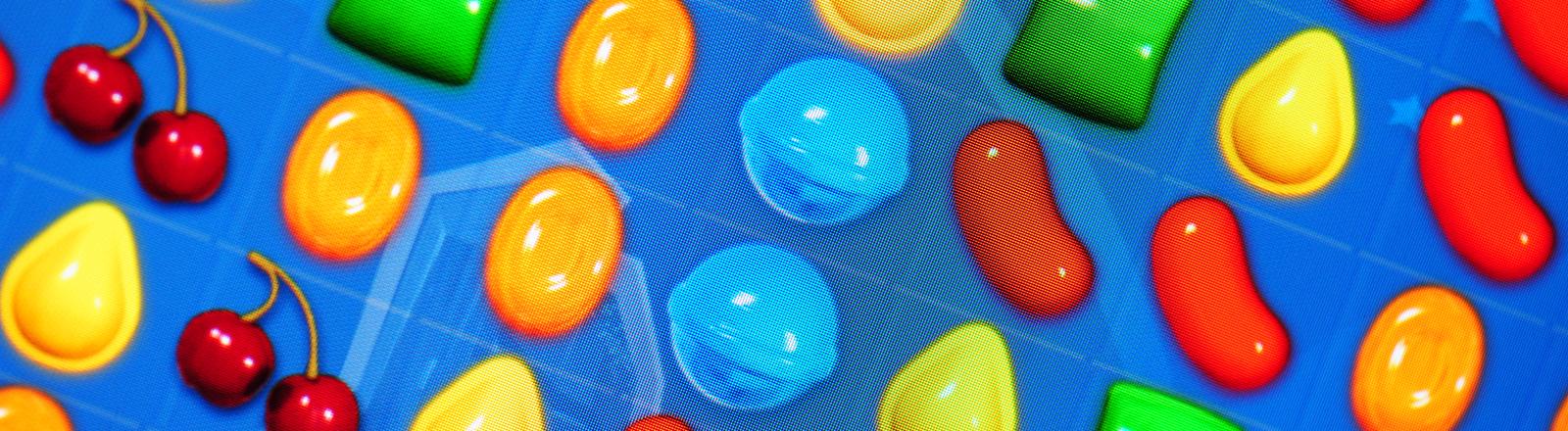 """So sieht das beliebte Spiel """"Candy Crush Saga"""" auf einem Tablet aus."""