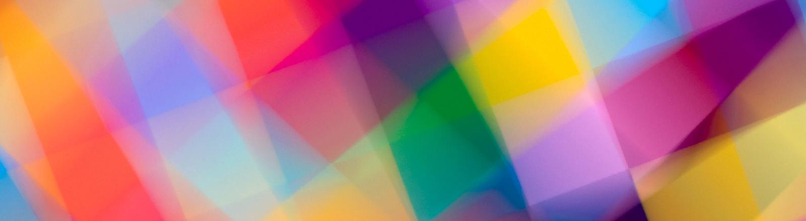 Bunte Quadrate, irgendwas zwischen psychedelischem LSD-Trip und buntem Prisma.