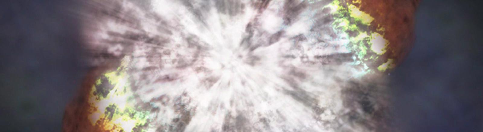 Darstellung der Supernova SN 2006gy