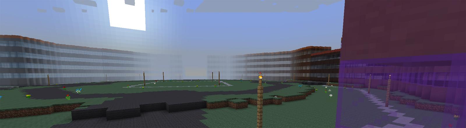 In dem Computerspiel Minecraft hat ein dänisches Institut das komplette Land Dänemark nachgebaut. Hier ein Blick auf die Amalienburg in Kopenhagen.