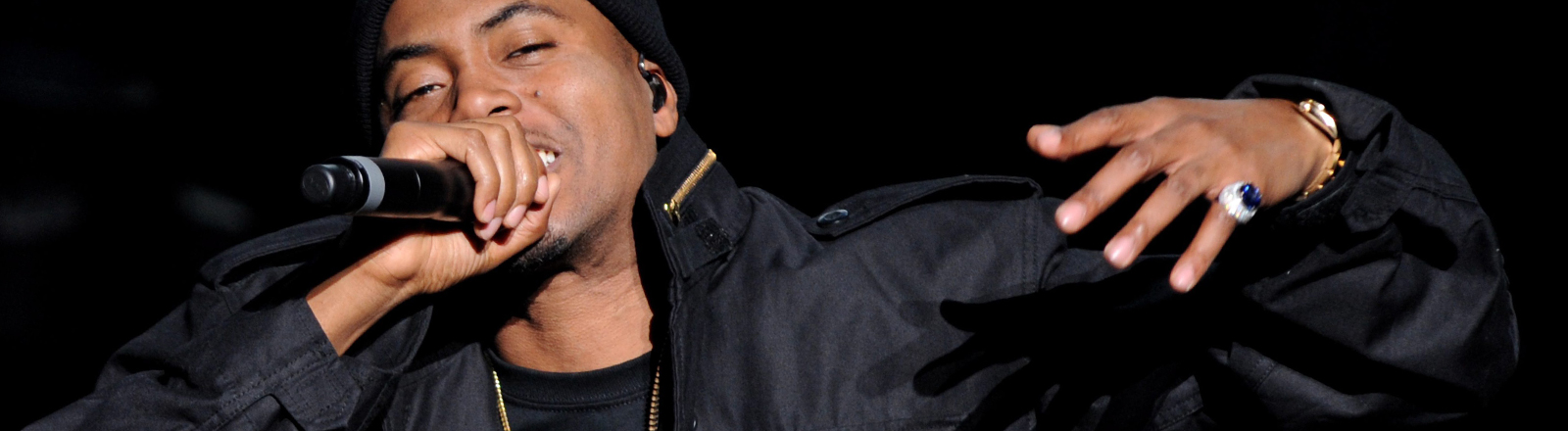 Der Rapper Nas steht am 16.04.2014 auf dem Tribeca-Film-Festival auf der Bühne.