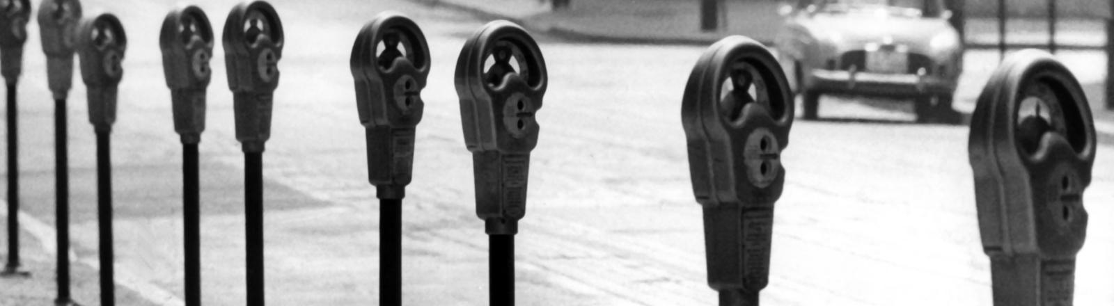 Parkographen in der Frankfurter Innenstadt 1963