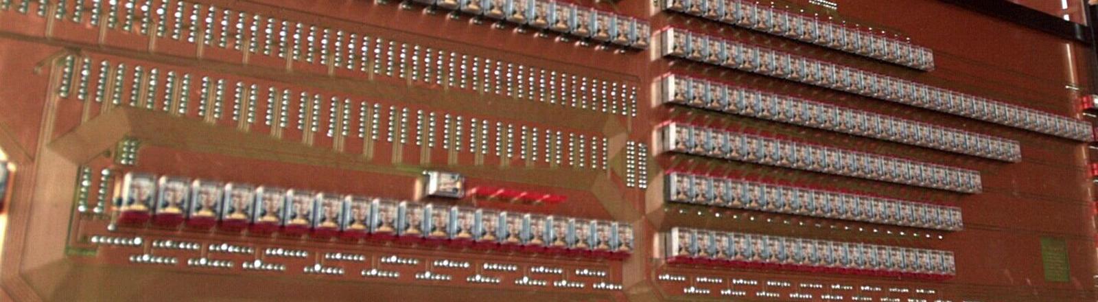 Das Rechenwerk des ersten Computers Z3 von Konrad Zuse.