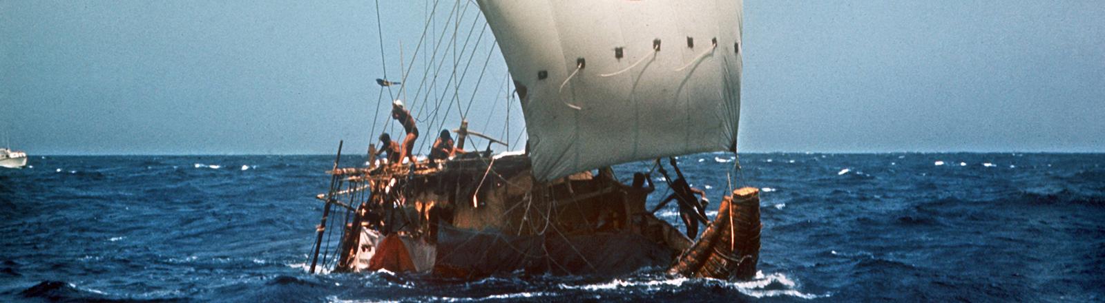 Mit dem Papyrusboot Ra II stach Thor Heyerdahl 1970 in See.