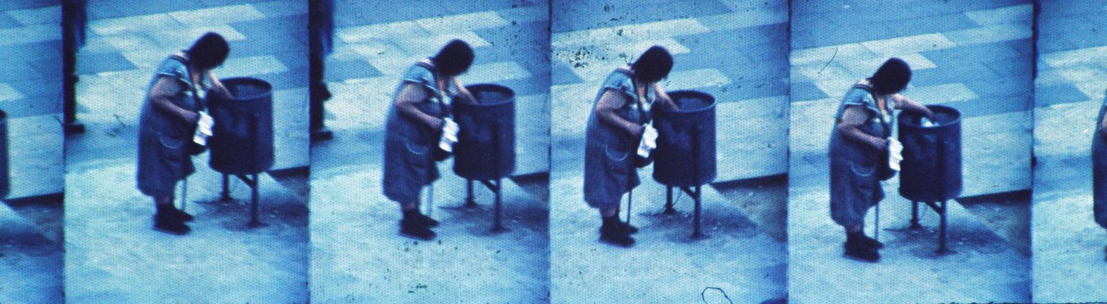 Ein Negativabdruck einer Fotosequenz