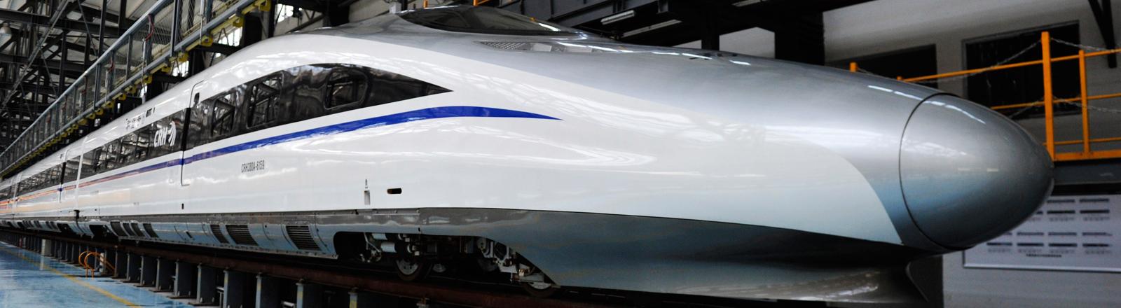 Der chinesische Hochgeschwindigkeitszug für die Strecke Hangzhou-Nanchang-Changsha