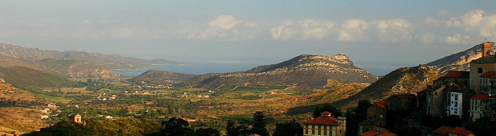 Blick von Oletta über Korsika