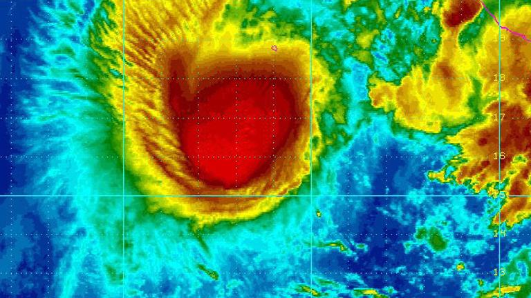 Radarbild eines Hurrikans