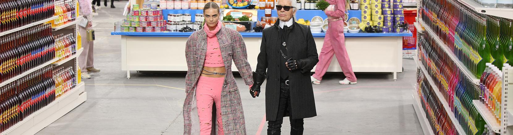 Karl Lagerfeld und das Model Cara Delevingne