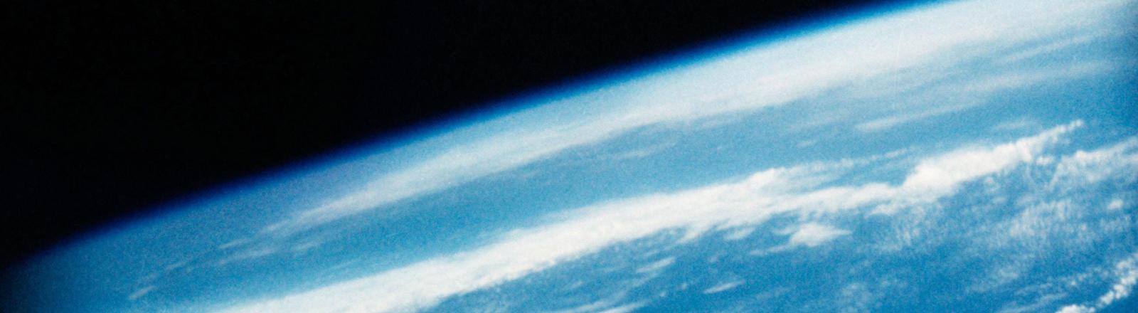 Foto vom Weltraum auf die Erde