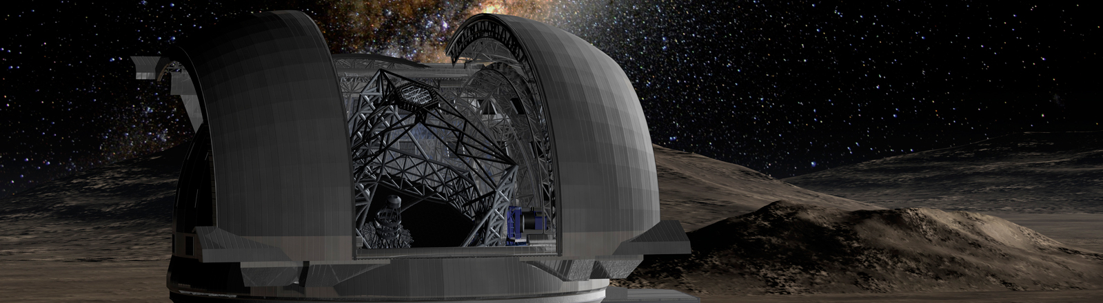 Modell des European Extremly Large Telescope