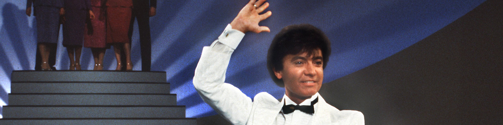 Der Schlagersänger Rex Gildo alias Ludwig Franz Hirtreiter bei einem Auftritt 1983