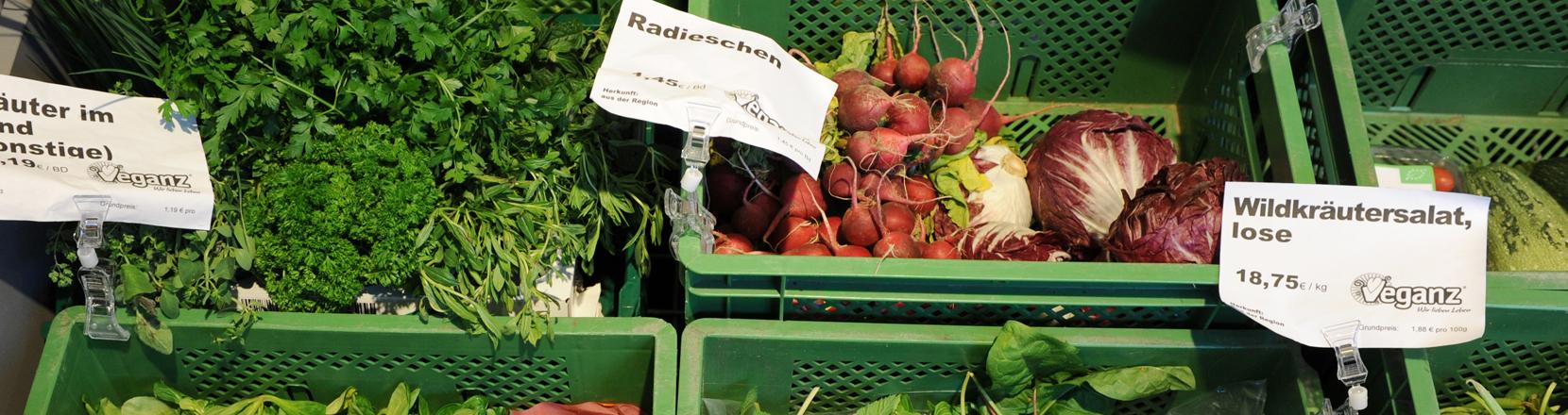 Gemüse im Bioladen