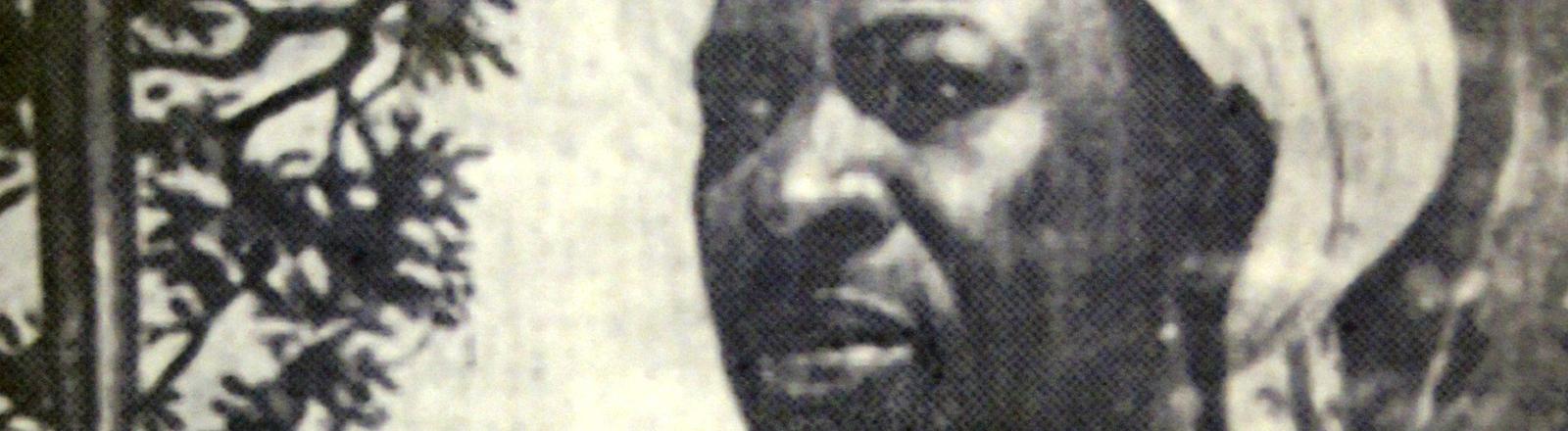 Foto des Häuptlings Mkwawa im Nationalmuseum von Daressalam