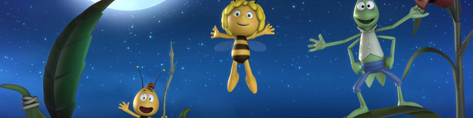 Biene Maja mit Freund Willi und Flip in einem 3D-Remake