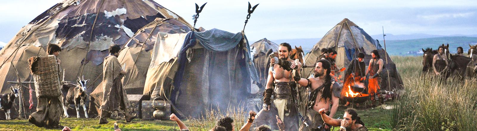 Ein Lager der Dothraki mit ihrem Anführer Khal Drogo