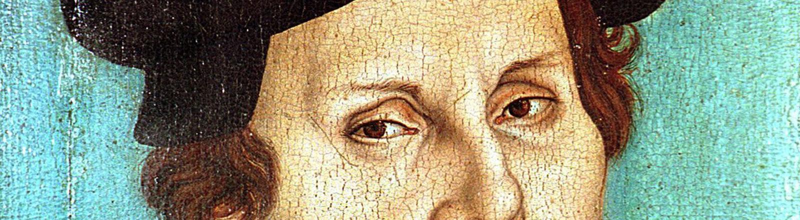 Der Reformator Martin Luther in einer Darstellung von Lukas Cranach d.Ae. (Ölgemälde auf Holz von 1528).