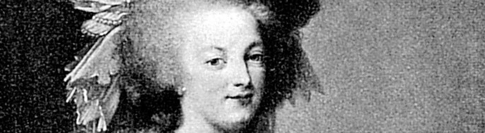 Zeitgenössisches Porträt der französischen Königin Marie Antoinette (1755-1793).