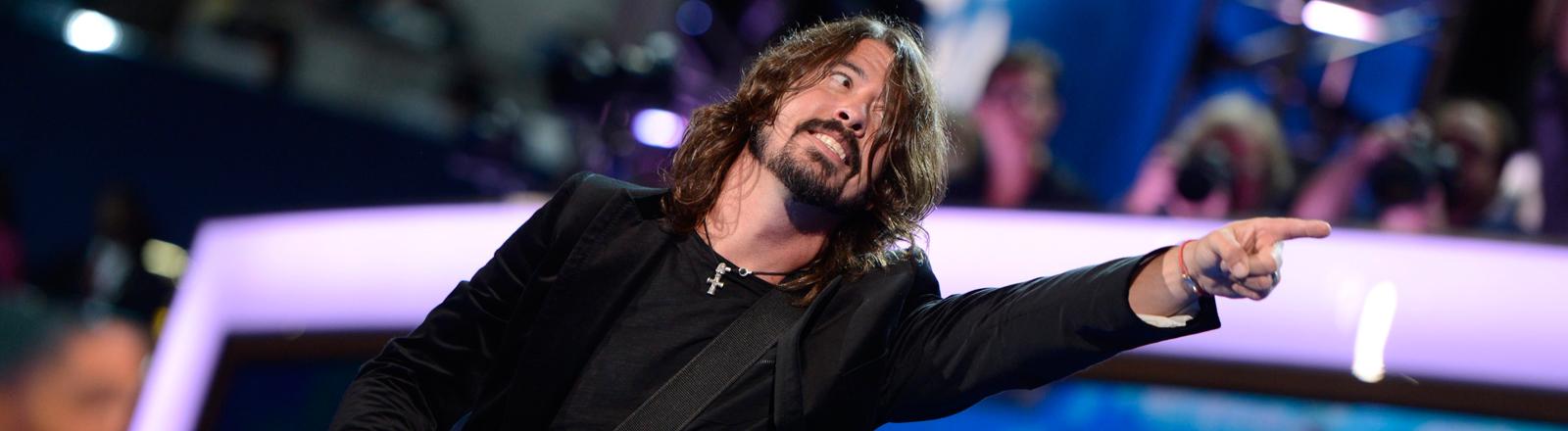 David Grohl und The Foo Fighters bei einem Konzert 2012