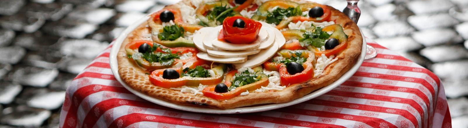 Eine echte italienische Pizza