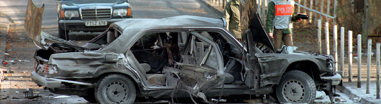Alfred Herrhausen wurde bei einem Bombenattentat am 30.11.1989 in Bad Homburg getötet.
