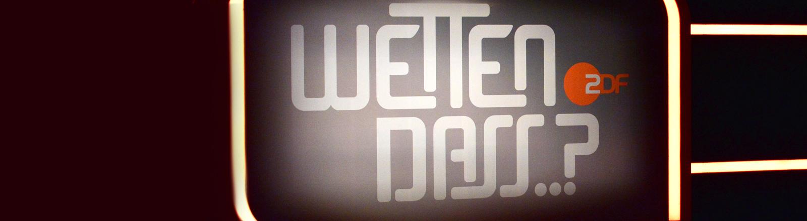 """Logo der """"Wetten dass ...?""""-Sendung"""
