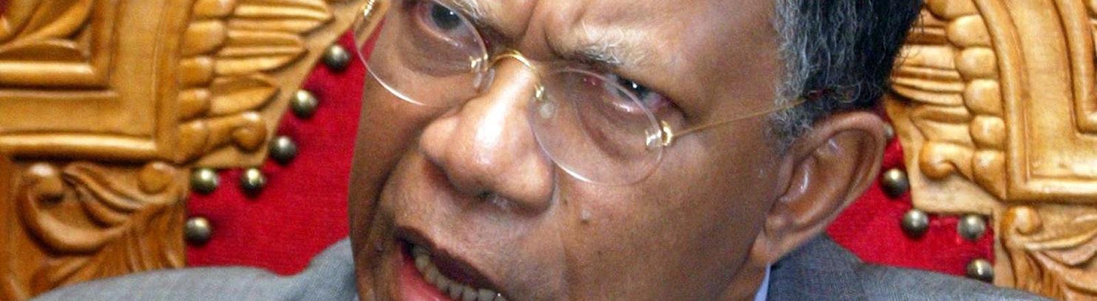 Madagaskars Präsident Didier Ratsiraka 2002