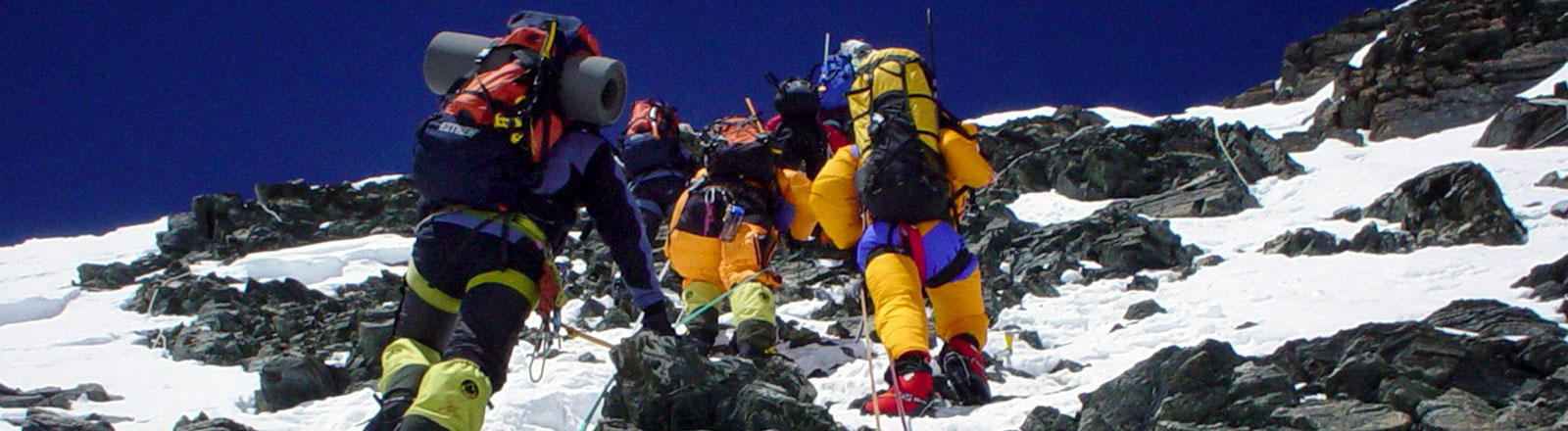 Bergsteiger am Mount Everest