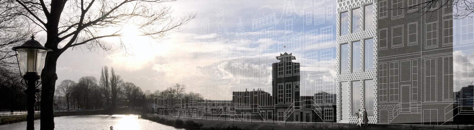3D-Animation des Grachtenhauses. So soll es später einmal aussehen.