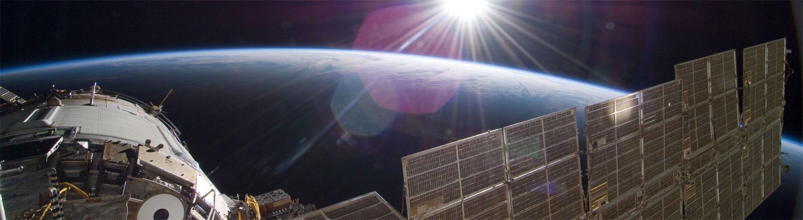 Blick von der Internationalen Raumstation ISS auf die Erde