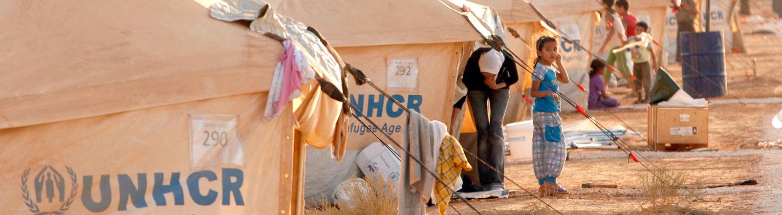 Syrisches Flüchtlingscamp des UNHCR in Jordanien.