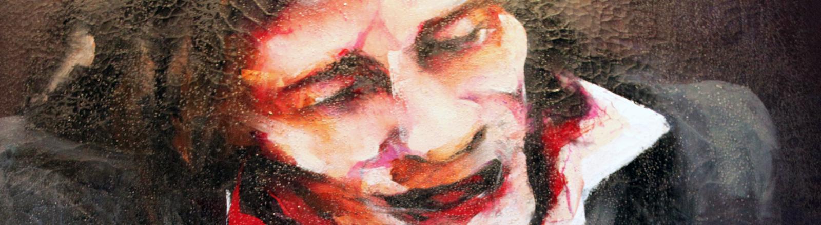 """Camarón 16"" von Lita Cabellut http://kaidikhas.com/de/artist/lita_cabellut/works/camaroen_16"