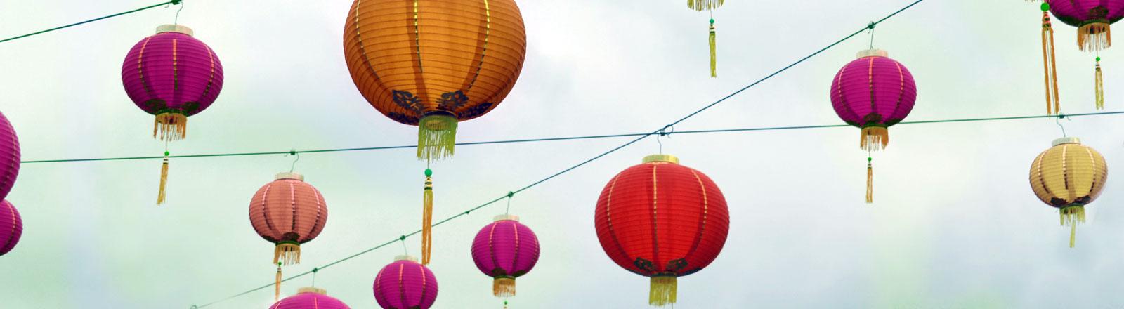 Chinesische Lampions.