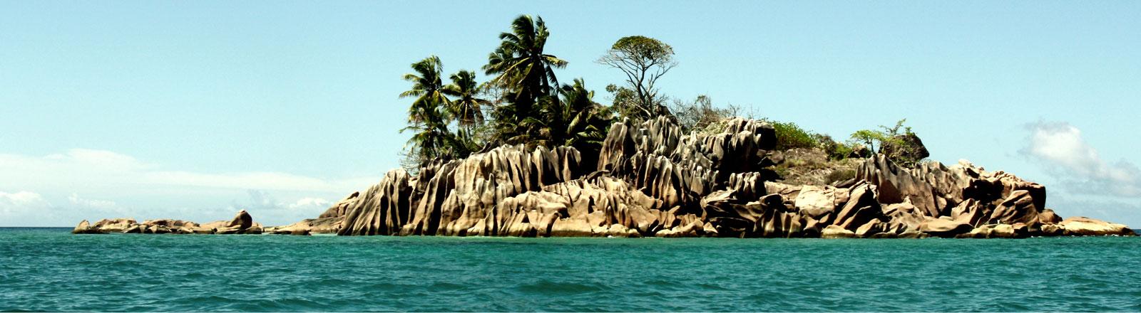 Eine kleine Insel.