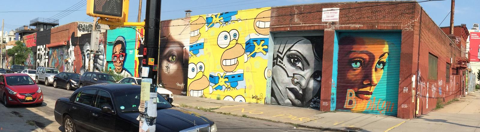 Mural in Bushwick, Brooklyn, New York