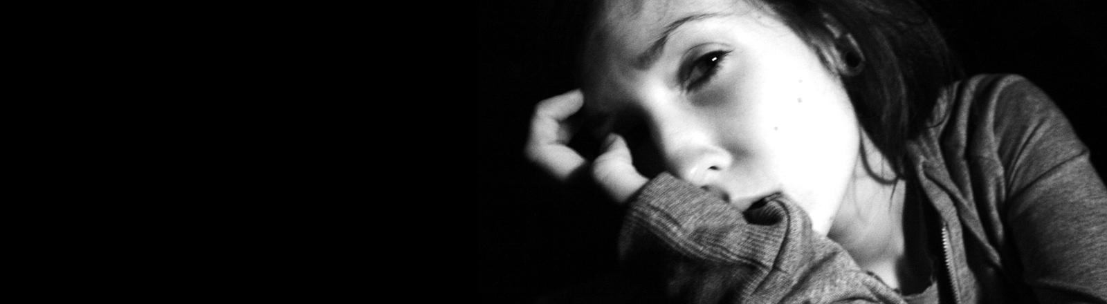 Eine traurige Frau