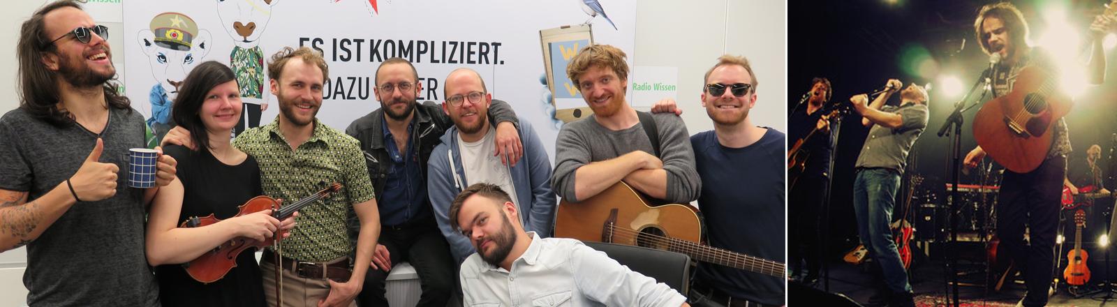 Die Musiker von Tour of Tours bei DRadio Wissen.