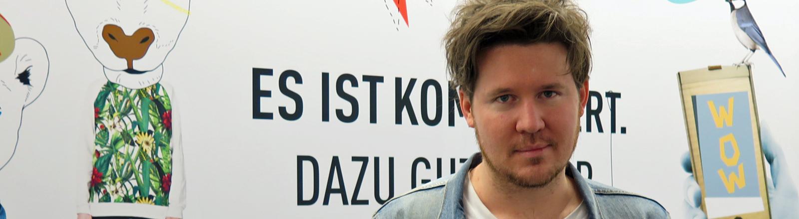 Der Musiker Jarryd James bei DRadio Wissen.