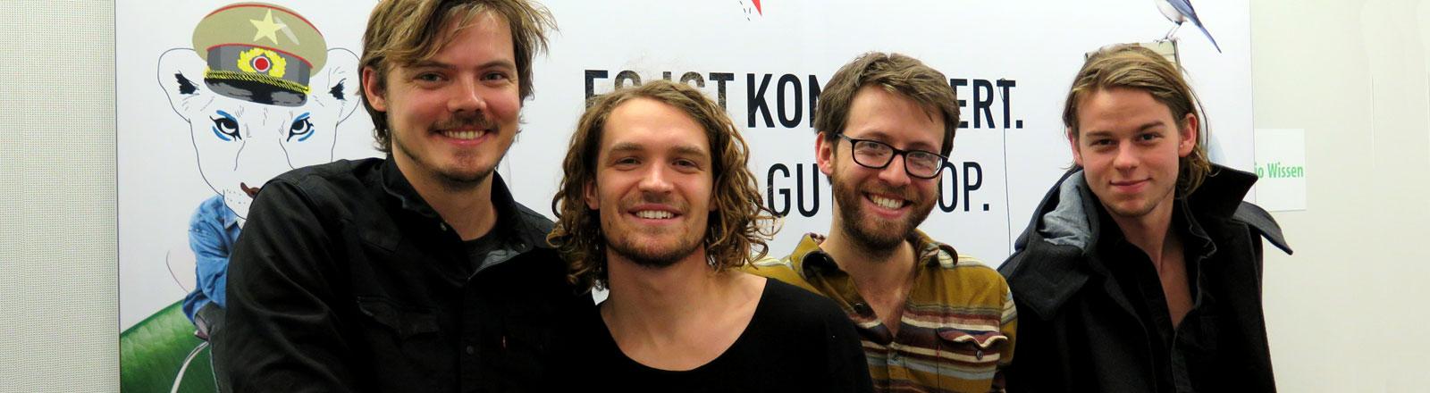 Bandmitglieder von Half Moon Run