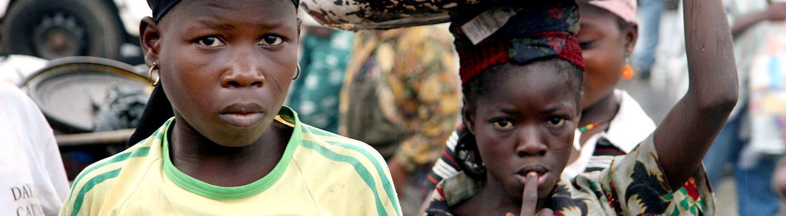 Ghanaische Mädchen werden als Sklavinnen gehalten.