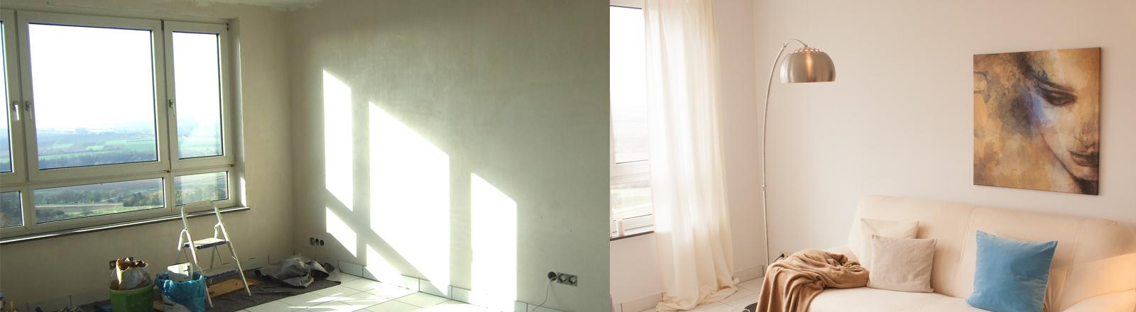 Eine Wohnung vor und nach dem Home Staging