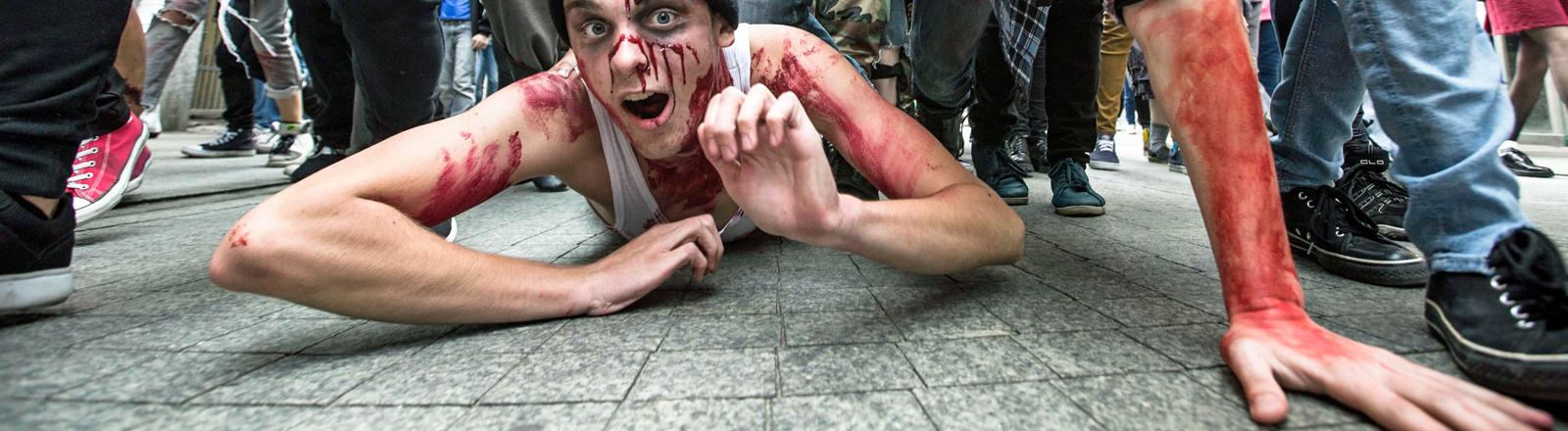 Szene auf dem ersten Zombie-Tag in Poznan
