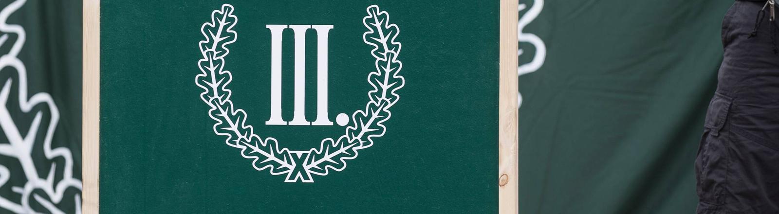 """Logo der rechtsradikalen Partei """"Der dritte Weg""""."""