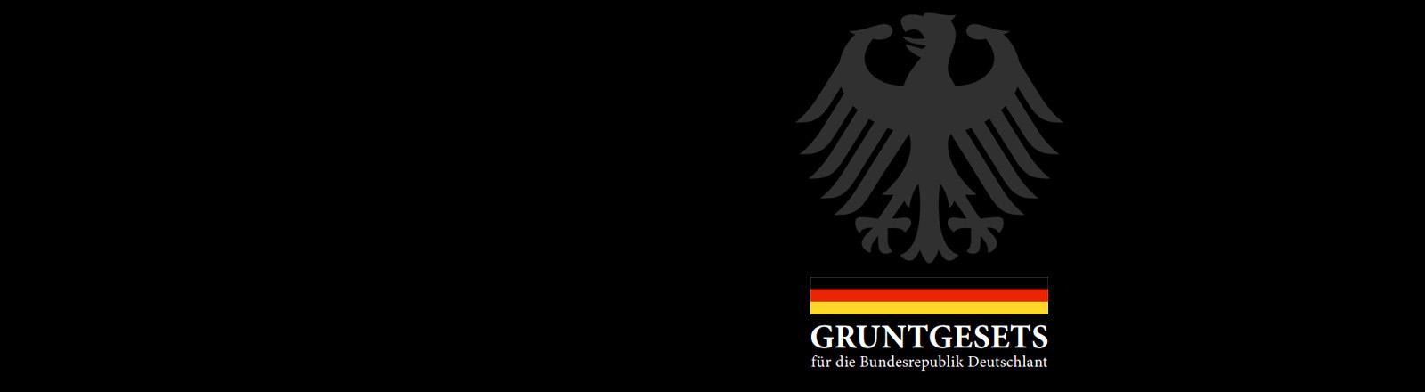 """Cover des neuen """"Gruntgesets"""" auf Pegida-Deutsch"""
