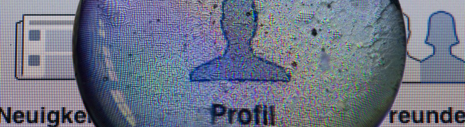 Facebook-Profil unter der Lupe