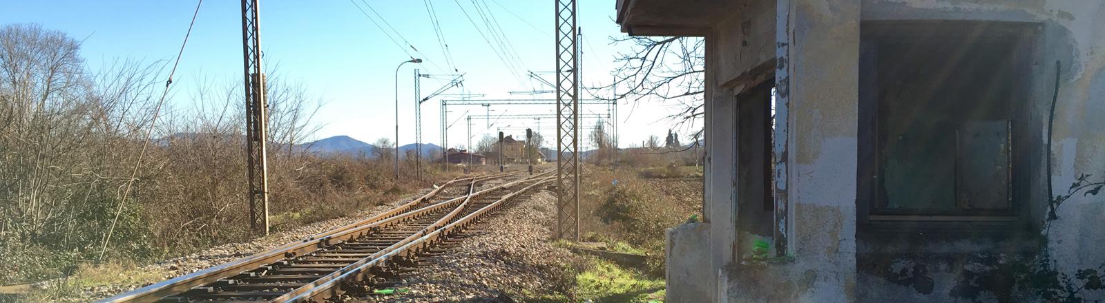 Eine Versorgungsstation für illegale Flüchtlinge in Mazedonien