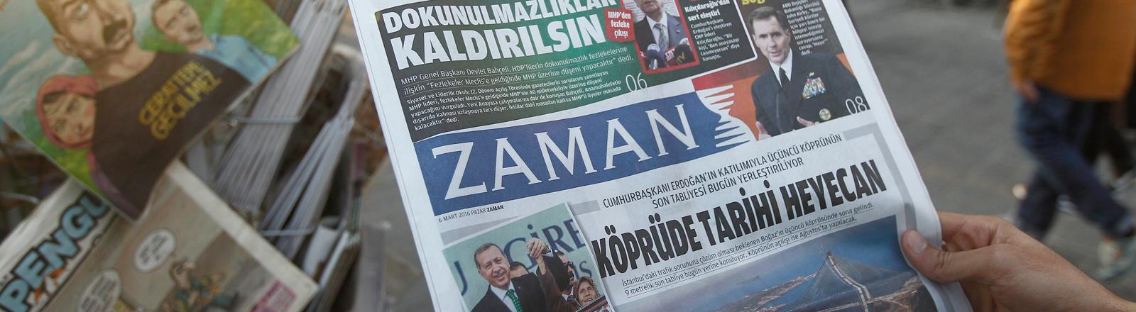 Die Ausgabe der türkischen Zeitung Zaman am 6. März 2016, zwei Tage nachdem die Polizei die Redaktionsräume gestürmt hatte.