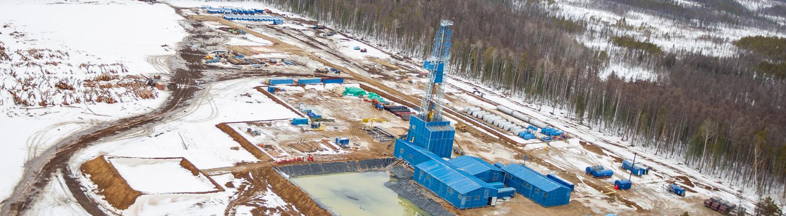 Ein Öl- und Gasfeld im Distrikt Lensky in Russland; Foto: dpa