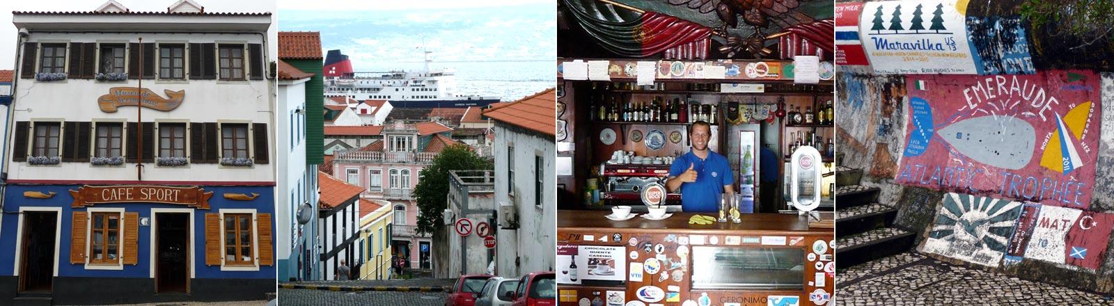 Ansichten der Azoren-Insel Faial.